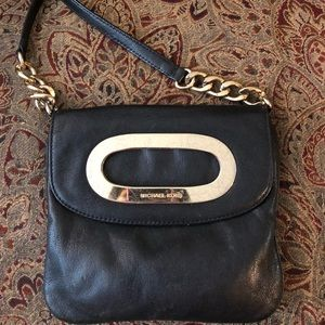 Michael Kors Black Gold Chain Crossbody Bag Purse
